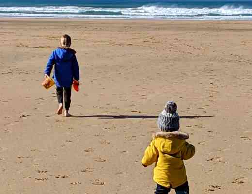 Boys on the beach February 2019