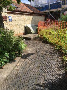 A clear path following a morning weeding