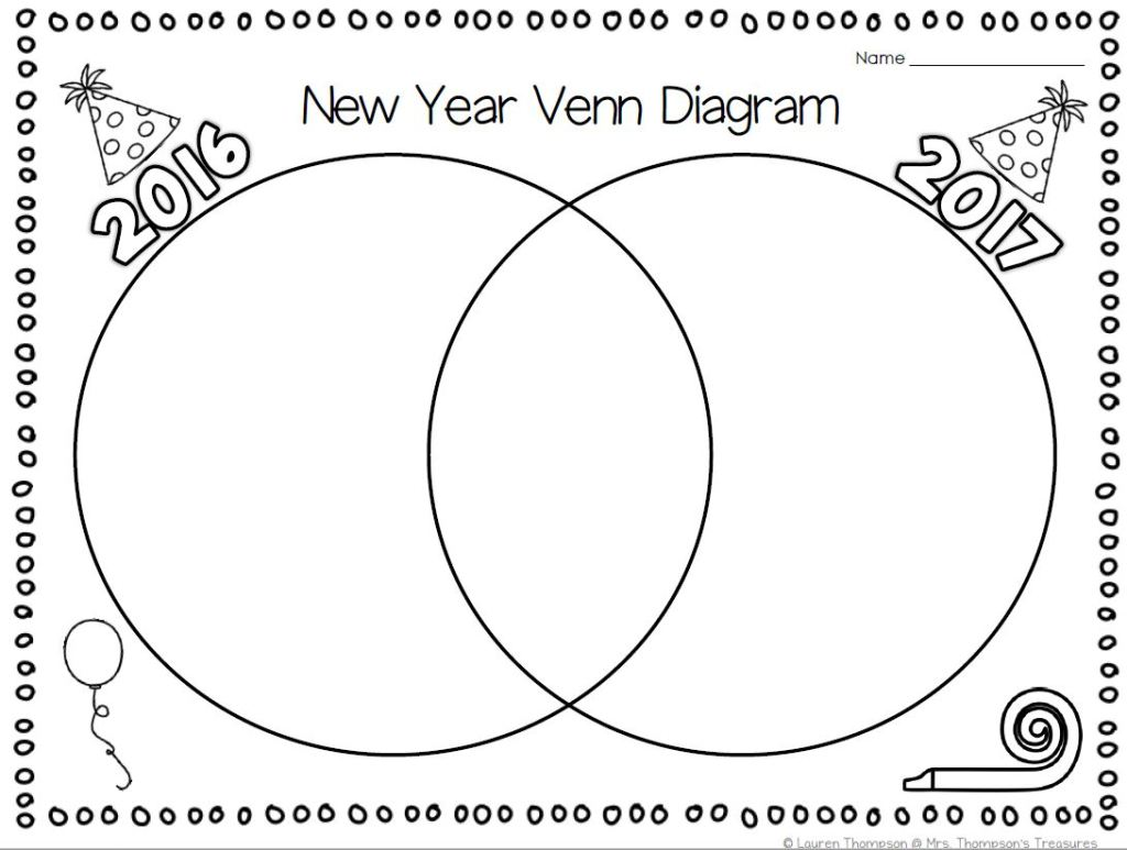 Free new year venn diagram activity mrs thompsons treasures this fun new year venn diagram is a unique way for them to record their thoughts and ideas in the 2016 portion they can write major events that shaped pooptronica Images