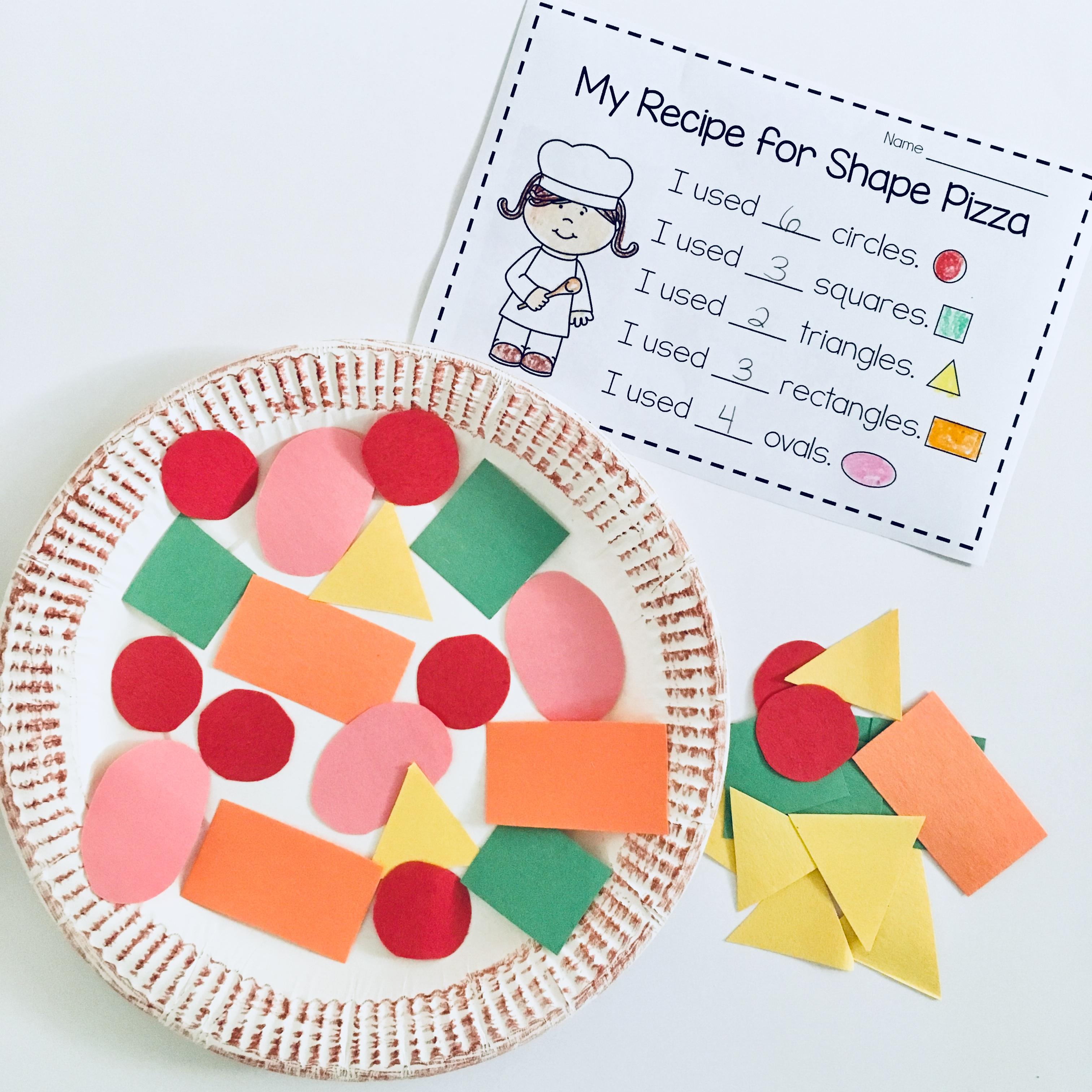 Pizza Shapes Worksheet