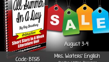 english teachers check out ela resources back to school sale - Halloween Short Stories Middle School