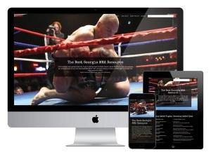 Fightaholic Georgia Responsive Web Design
