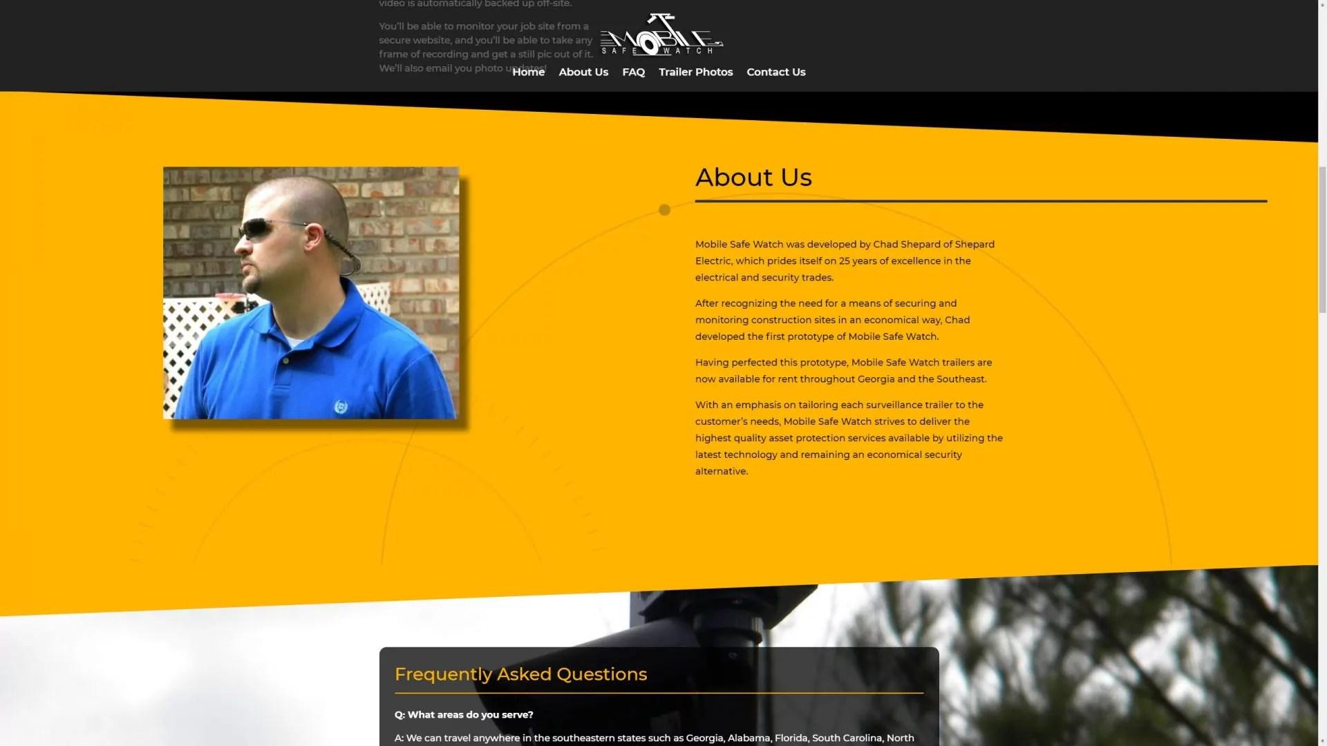 Mobile Safe Watch (Brooks, GA) Desktop Web Design