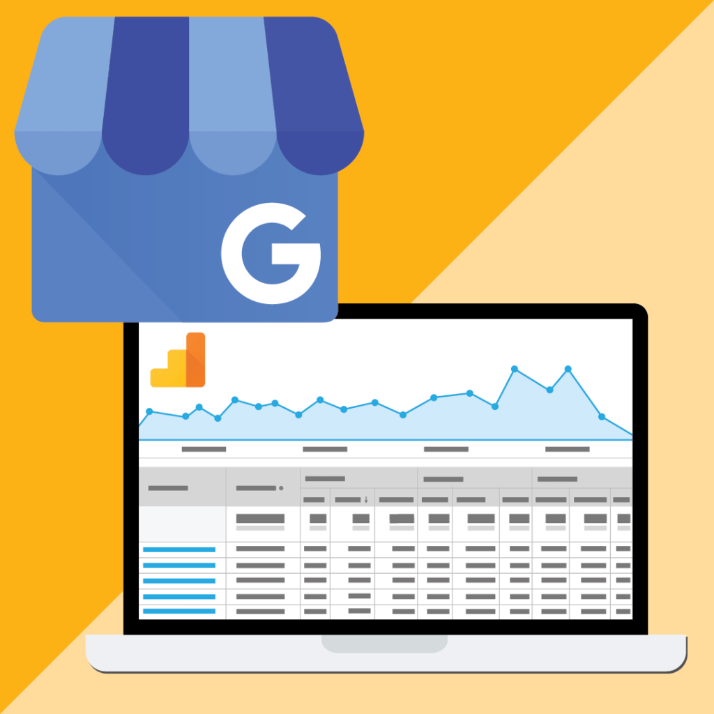 Google Analytics and Google My Business Illustration