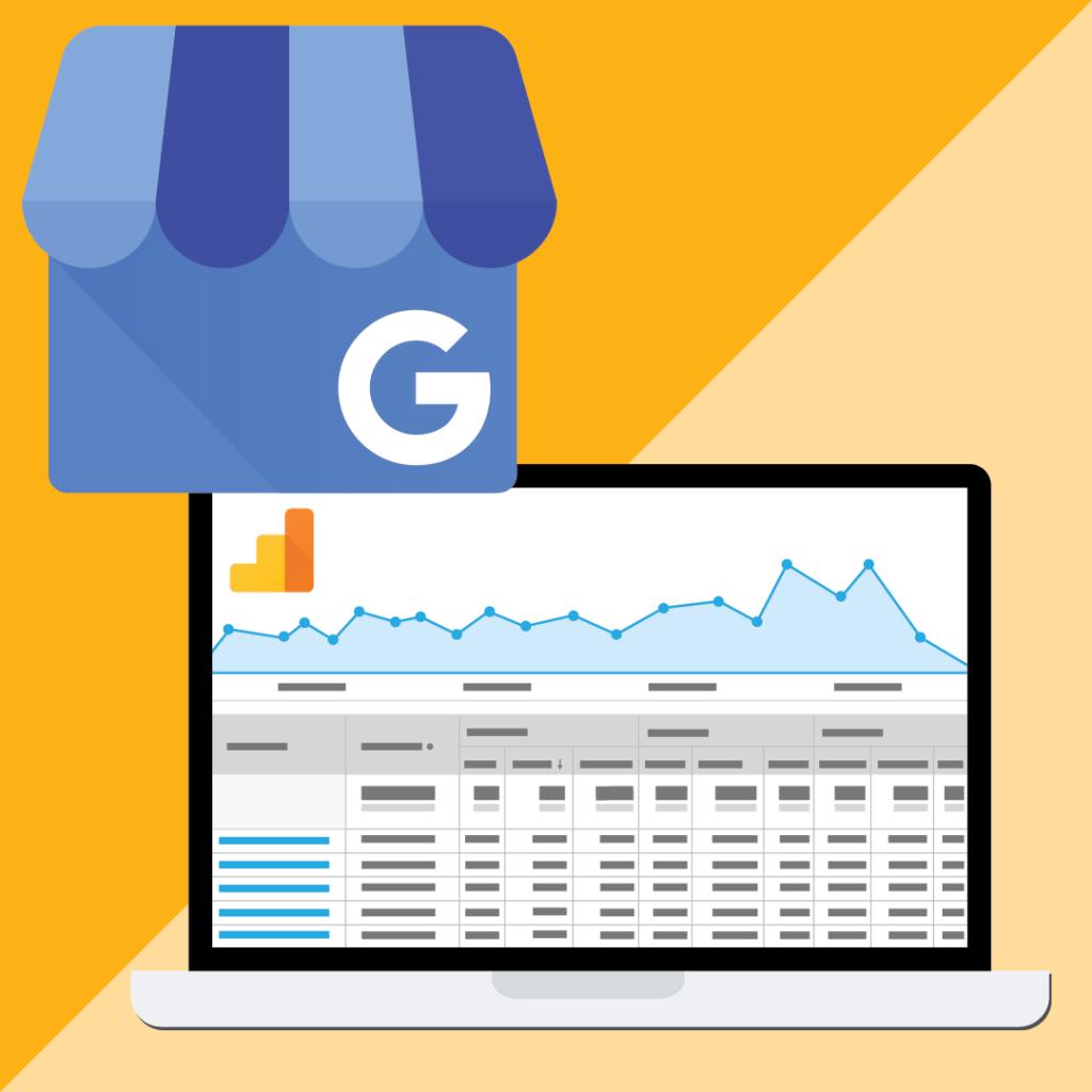 Google Analytics and Google My Business Illustration