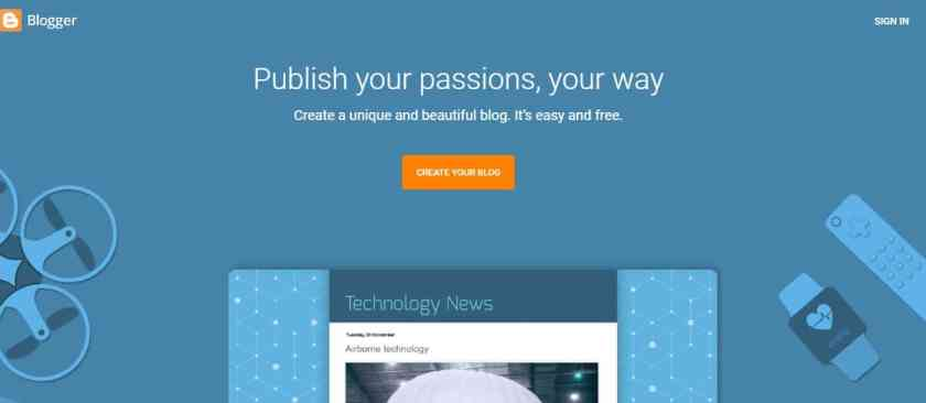 Blogger - cheapest way to start a blog