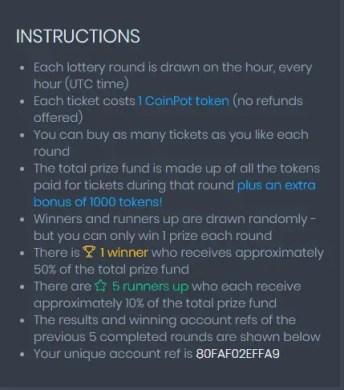 CoinPot Lottery