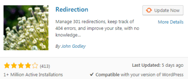 Redirection plugin for WordPress