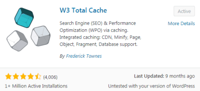 W3 Total Cache Best free WordPress Plugins