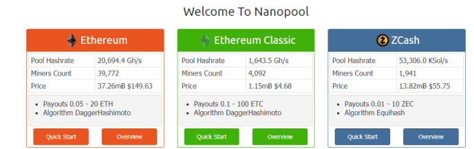 Nano Pool Ethereum Mining