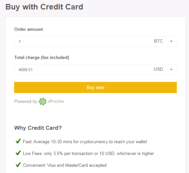 Buy Crypto on Binanace using Credit Card