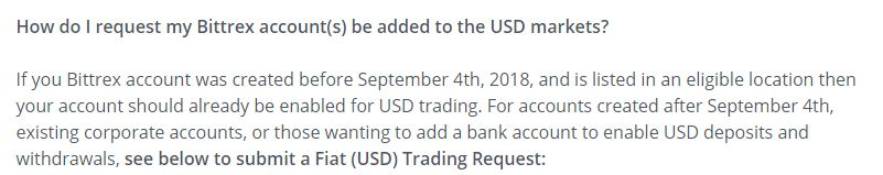 Bittrex USD trade request