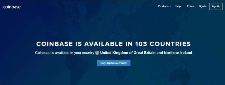 Coinbase global Country