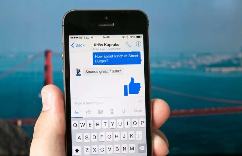Facebook Messanger App for sending private message on mobile app