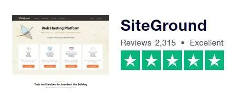 TrustPilot SiteGround Rating