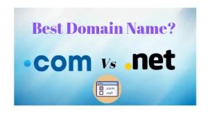 .com vs .net the best domain name.