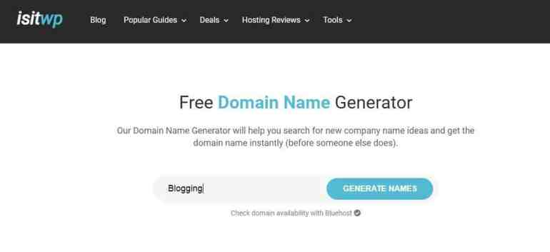 ISITWP -blog name generator