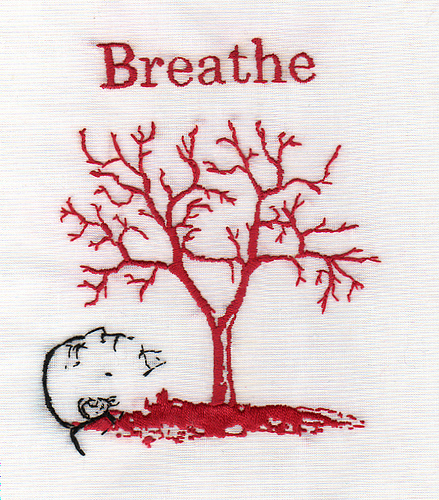 Bascom Hogue - Breathe - Hand Embroidery