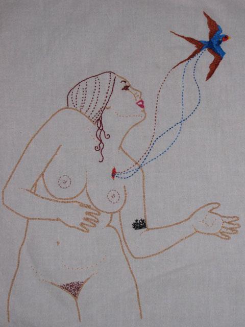 Meagan Ileana Embroidery - Freedom