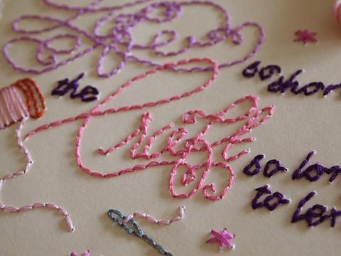 OhMyStars Stitched Moleskine Detail