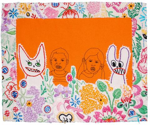 Maggi Rozycki Hiltner's Mean Cat and Bunny