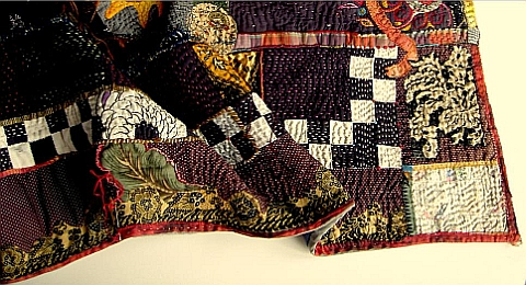 Jude Hill's hand embroidered quilts