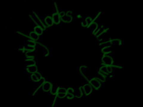 Sweary Glow In The Dark Machine Embroidery by Seamless Gem