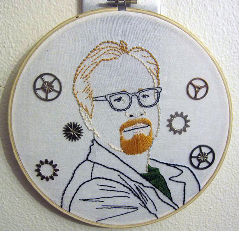 CraftyOctober's Adam Savage hand embroidery