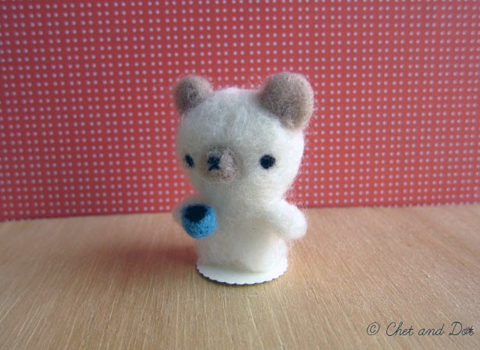 Needle Felted Bear by Chet and Dot
