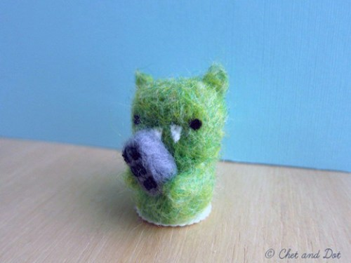 Needle Felted Monster by Chet and Dot