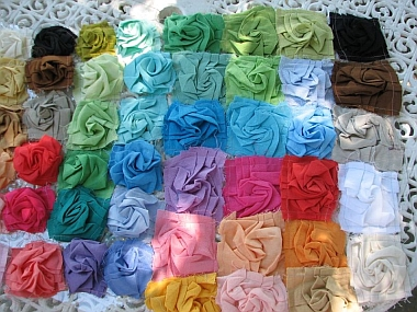 Calamity Kim's fabric roses