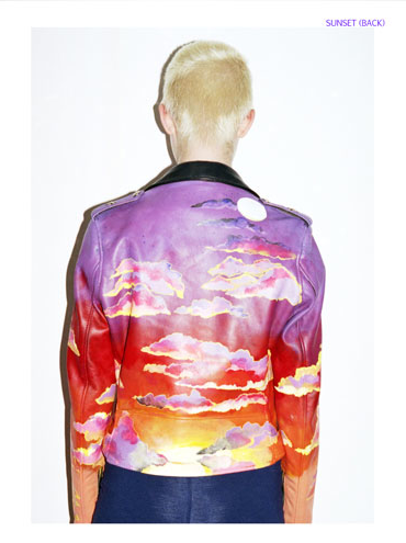 Claire Barrow's painted leather jacket for Rihannas LOUD tour