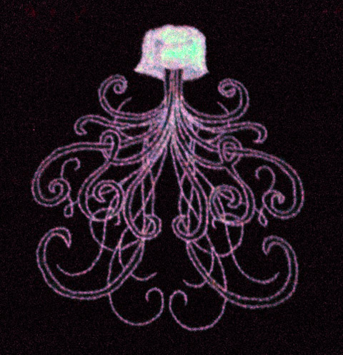 Homerof2 - Jellyfish hand embroidery Glows!