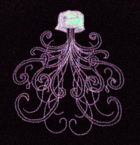 Homerof2 - Jellyfish hand embroidery Glows!