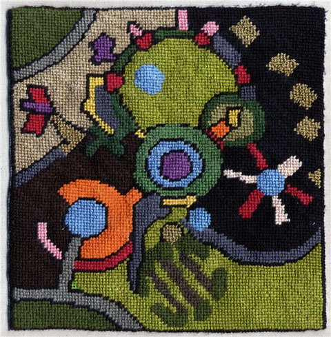 Pandora Vaughan - Youth Detention Centre, New Jersey - Needlepoint