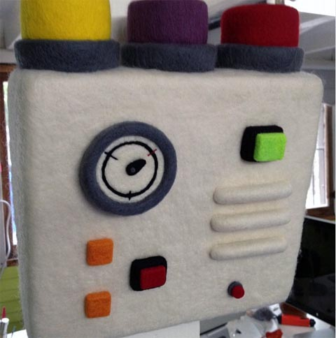 Moxie - Control - needle felted art
