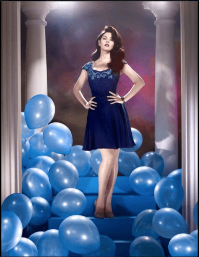 Blue dress baloons marina