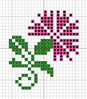 Combination colour and symbol cross stitch pattern