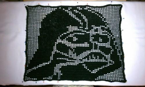crochet vader by craftsasha