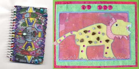 Embellish journals and kids' artwork with double sided tape, clear beads, and threads from a Bag O'Bits.