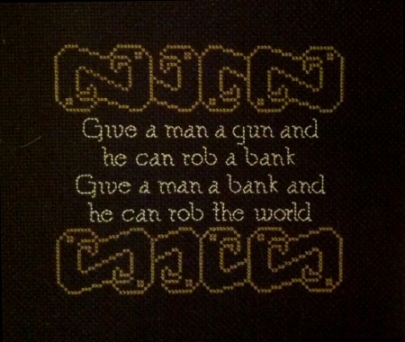 Mabith's Give A Man A Gun Cross Stitch