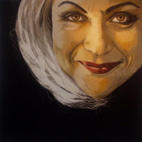 Birgitte Busk - Uls - Machine Embroidered Portrait