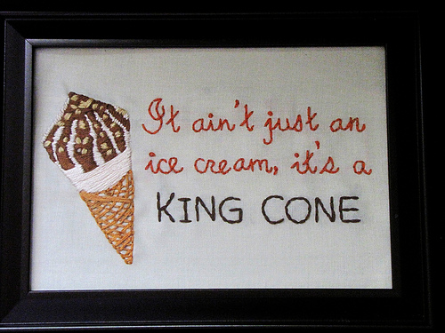 Giggly Mama -King Cone - Hand Embroidery
