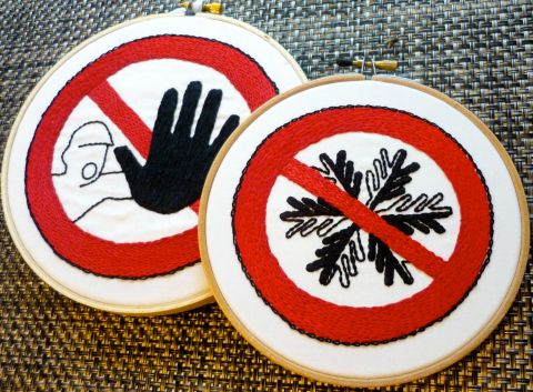 Olisa Corcoran - Do Not Flake (2012) - Hand Embroidery