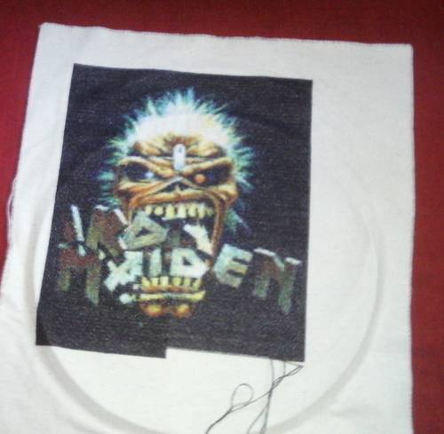 Oprah Winfrey's Iron Maiden Eddie Cross Stitch