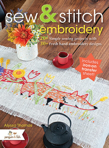 Too Cute Tuesday – Book Review, Penguin & Fish's Sew & Stitch Embroidery
