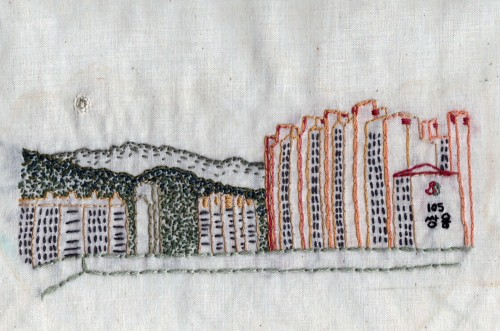StitchALynn's Bong-seun Dong Skyline Hand Embroidery
