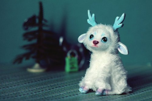 RedFoxAlice's Winter Deer Art Doll