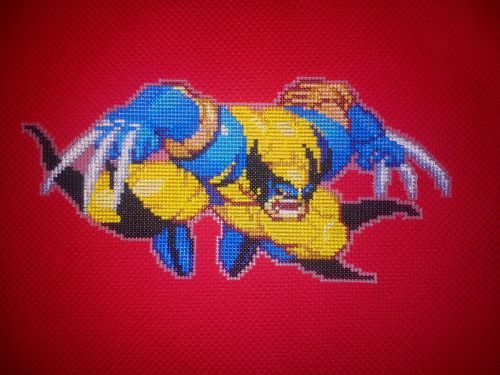 Wolverine Cross Stitch by Holder of Anime