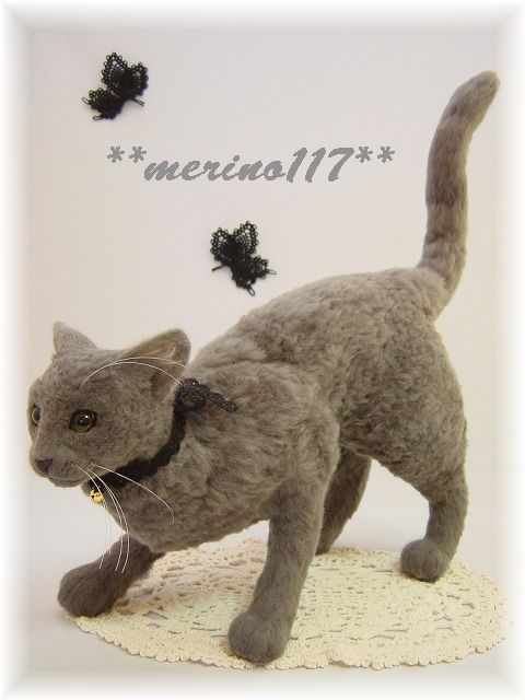 felt cat by merino117